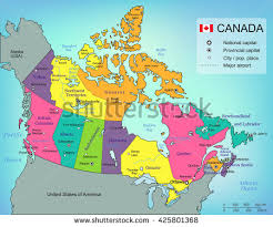 capital of canada map canada map provinces all territories selectable stock vector