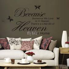 because someone love heaven vinyl wall lettering stickers because someone love heaven vinyl wall lettering stickers quotes and sayings with black butterfly art decal decals