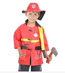 firefighter costume kids chief play costume set fireman firefighter costume