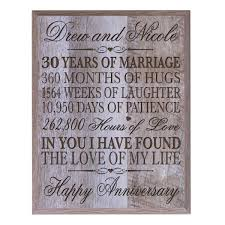 30 year anniversary gift ideas personalized 30th anniversary gifts for him parents