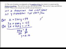 linear systems word problems solving by elimination youtube