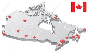 Map Of Canadian Provinces 3d Map Of Canada Showing The Capitals Of The Provinces And