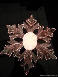 new brand low price led window suction snowflake decoration light