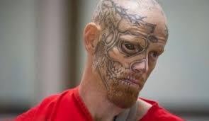 terrifying criminal with a tattooed eyeball 4 photos