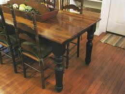 Dining Room Tables Rustic Rustic Farmhouse Dining Table With Bench Bench Decoration