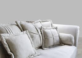 oversized sofa in sand linen