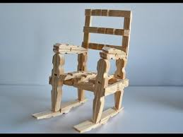 How To Build A Simple Rocking Chair How To Make A Wood Rocking Chair With Clothespins Tutorial Youtube