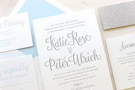 silver and white invitations forget me not winter wonderland letterpress printed invitations