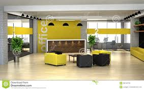 What Is An Interior Designer by 3d Rendering An Interior Of The Office Hall With Reception