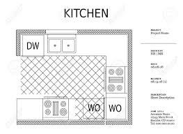 architectural kitchen designs architectural kitchen plan royalty free cliparts vectors and