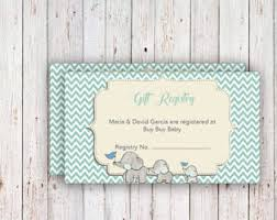 registry for baby shower baby registry cards registry inserts baby shower gift