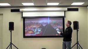 Black Diamond Projector Screen Bright Room Youtube