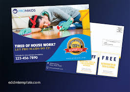 direct mail templates cleaning service business direct mail eddm template