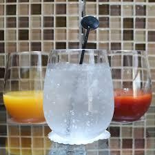 notmog 16 stemless wine glasses office set unbreakable reusable