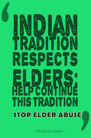 indian tradition respects elders help continue this tradition