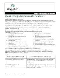 Accomplishments In Resume Professional Accomplishments Resume Examples Experienced
