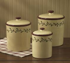 primitive kitchen canisters thistleberry canisters by park designs set of three vine pip