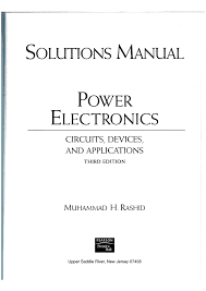 power electronics solution manual cover page by m h rashid documents