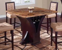 Wine Bar Table Global Furniture D800bt Square Marble Top Bar Table With Wine Pub