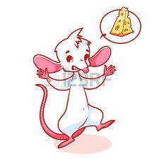 souris mignon avec fromage caractère vectoriel de dessin animé