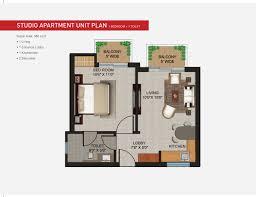 apartment plan apartments sqft studio unit floor designs