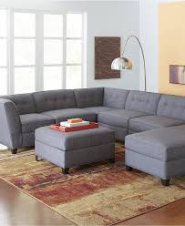 Modern Grey Sectional Sofa Furniture Grey Sectional Sofa With Brown Carpet And Pendant Lamp