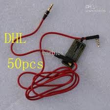 best quality red wires for headphone 3 5mm replacement cable audio