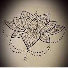 ever lotus mandala tattoo design stencil