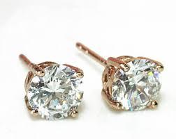 gold diamond earrings diamond studs etsy
