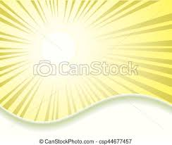 design with sun rays design delicate yellow color with the