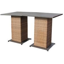 Patio Furniture 5 Piece Set - outdoor wicker pub table set pub table and stools