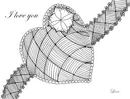 love heart by leen margot zen and anti stress coloring pages