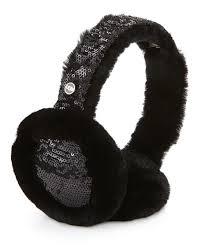 ugg earmuffs sale ugg two tone sequin shearling fur headphone wired earmuffs