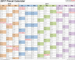 Planning Agenda Template Fiscal Calendars 2017 As Free Printable Excel Templates