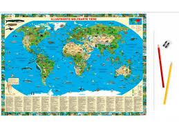 map pad desk pad children map with animals desk pads geo