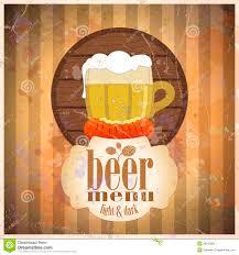 beer menu design template stock vector image of card 28242606