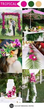 tropical wedding theme ten trending wedding theme ideas for 2018 blue flowers palm and