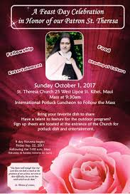thanksgiving novena st theresa church aloha and welcome