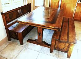 Simple Storage Bench Plans Corner Ideas Image On Astonishing Solid - Benches for kitchen table