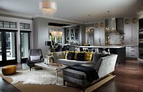 black and gray living room leach residence transitional living room miami by freestyle