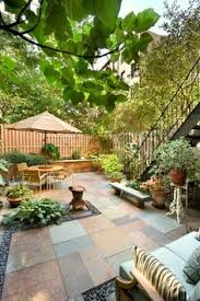 Narrow Backyard Ideas Cozy Intimate Courtyards Stone Patios Water Features And Small