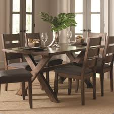 coaster alston rustic trestle dining table prime brothers
