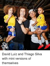 David Luiz Meme - ona david luiz and thiago silva with mini versions of themselves