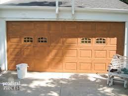 faux wood garage door tutorial prodigal pieces