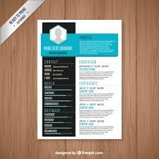 resume templates modern modern resume template vector free