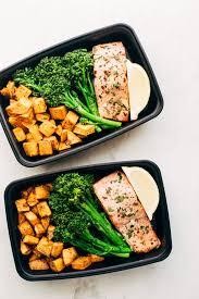 food prep meals lemon roasted salmon with sweet potatoes recipe little spice jar
