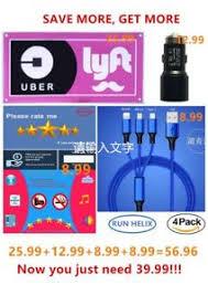 lyft light up beacon uber lyft led glow light up sign logo decal sticker accessories set