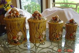 28 1970 geo z lefton ceramic kitchen canister set lefton 1970 geo z lefton ceramic kitchen canister set lefton 1970 geo z golden mushroom canister set