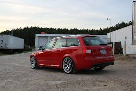 slammed audi wagon feature the little red grocery getter