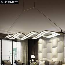 Modern Cheap Chandeliers Wave Design Chandelier For Dinning Room Black White Chandelier